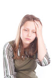 Teen girl with headache Royalty Free Stock Photography