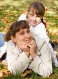 Teen girl and her mother Royalty Free Stock Photo