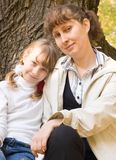 Teen girl and her mother Royalty Free Stock Images