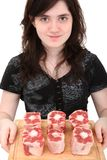 Teen Girl Holding Oxtails Royalty Free Stock Photo