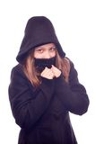 Teen girl in hood Royalty Free Stock Photography