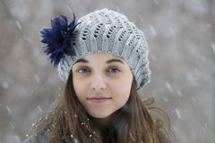 Free Teen Girl In The Snow Royalty Free Stock Image - 66492066