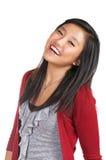 Teen Girl Joy. Happy teenage girl expressing joy Stock Photo