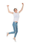 Teen girl jumping Royalty Free Stock Photo