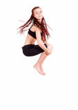 Teen girl jumping for joy Royalty Free Stock Images