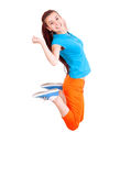 Teen girl jumping for joy Stock Photo
