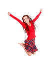 Teen girl jumping for joy Stock Photography