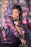Teen girl in a lavender dress Royalty Free Stock Photography