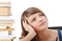 Teen girl learning Stock Image