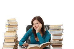 Teen girl learning Royalty Free Stock Photo