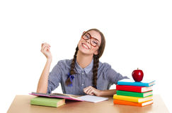 Teen girl  learning Royalty Free Stock Photography
