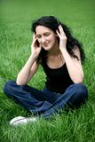 Teen Girl Listening Music Royalty Free Stock Images