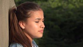 Teen Girl Listening And Nodding stock footage