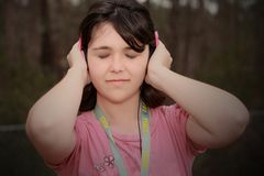 Loving music girl Stock Photos