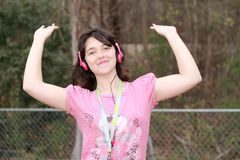 Loving music girl Royalty Free Stock Images