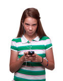 Teen girl listing to music Royalty Free Stock Photo