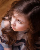 Teen girl looking away Stock Image