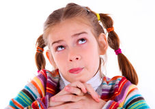 Teen girl make crazy funny faces Royalty Free Stock Images
