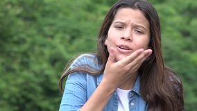 Teen Girl Making Baby Faces stock video footage