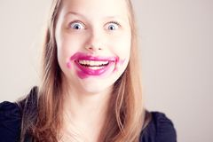 Teen girl making funny faces Royalty Free Stock Photography