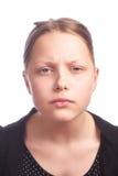 Teen girl making funny faces on white background. On white, studioshot Royalty Free Stock Image