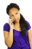 Teen girl with mobile phone Royalty Free Stock Photo