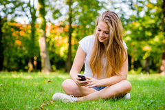 Teen girl - mobility Stock Photo