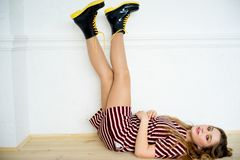 Teen girl model. A portrait of a teen girl model in a stdio Stock Image