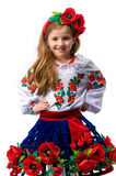 Teen girl in national dress Royalty Free Stock Photos