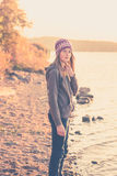 Teen girl in nature Stock Photos