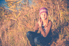 Teen girl in nature Royalty Free Stock Image