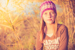 Teen girl in nature Royalty Free Stock Photography