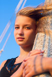 Teen girl outdoors Royalty Free Stock Photos