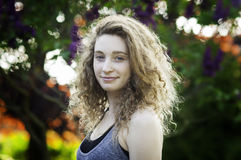Teen girl outdoors in summertime Royalty Free Stock Photos