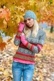 Teen girl outside. Sad attractive teen girl outside walking Royalty Free Stock Photography