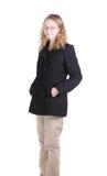 Teen girl in overcoat Royalty Free Stock Photo