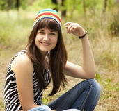 Teen girl at the park. Stock Photo