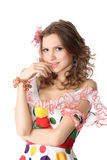 Teen girl in party dress Royalty Free Stock Image