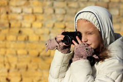 Teen girl photographs Royalty Free Stock Images