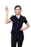 Teen girl pointing up Royalty Free Stock Photo