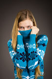 Teen girl posing in sweater Stock Photos