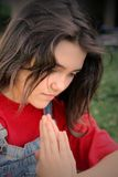 teen girl praying Stock Images