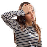 Teen girl  with problem headache depression Stock Photography