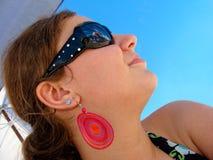 Teen girl profile royalty free stock photo