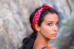 Teen girl profile portrait. Portrait of a teen girl stock image