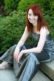 Teen girl in prom dress Stock Image