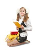 Teen girl reading book Stock Photography