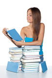 Teen girl reading book Stock Photos