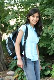 Teen girl ready for school Royalty Free Stock Photo