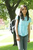 Teen girl ready for school Stock Image